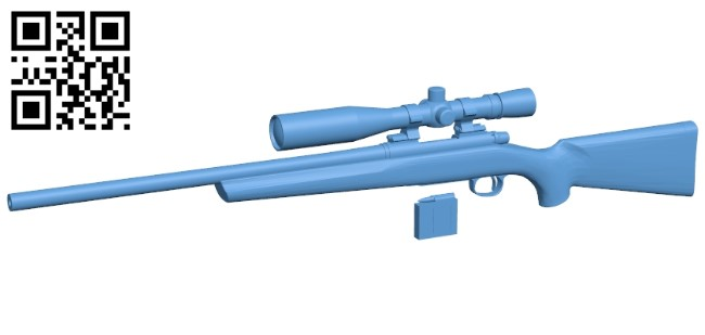 Remington 700 Sps Tactical - gun B009584 file stl free download 3D Model for CNC and 3d printer
