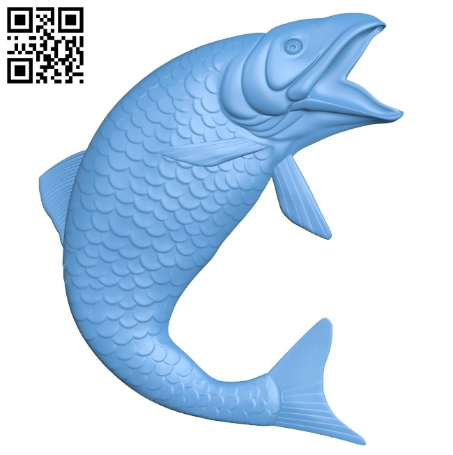 Salmon - fish A006504 download free stl files 3d model for CNC wood carving