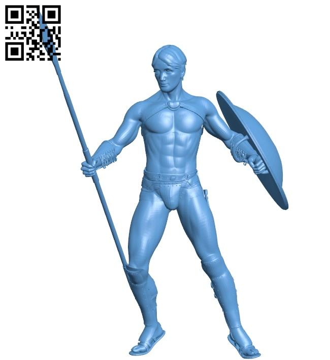 Spartan - man B009542 file stl free download 3D Model for CNC and 3d printer