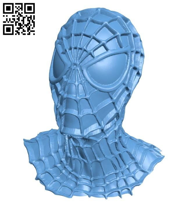 Spider man black icz - Bust B009568 file stl free download 3D Model for CNC and 3d printer