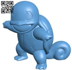 Squirtle – Pokemon B009558 file stl free download 3D Model for CNC and 3d printer