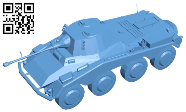 Tank SDKFZ 234 B009611 file stl free download 3D Model for CNC and 3d printer