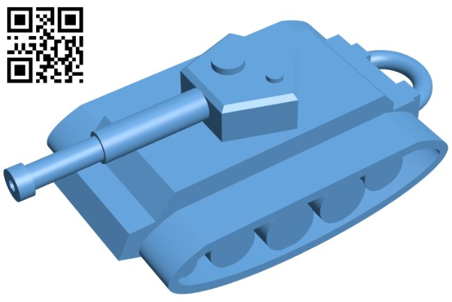Tank pendant B009548 file stl free download 3D Model for CNC and 3d printer
