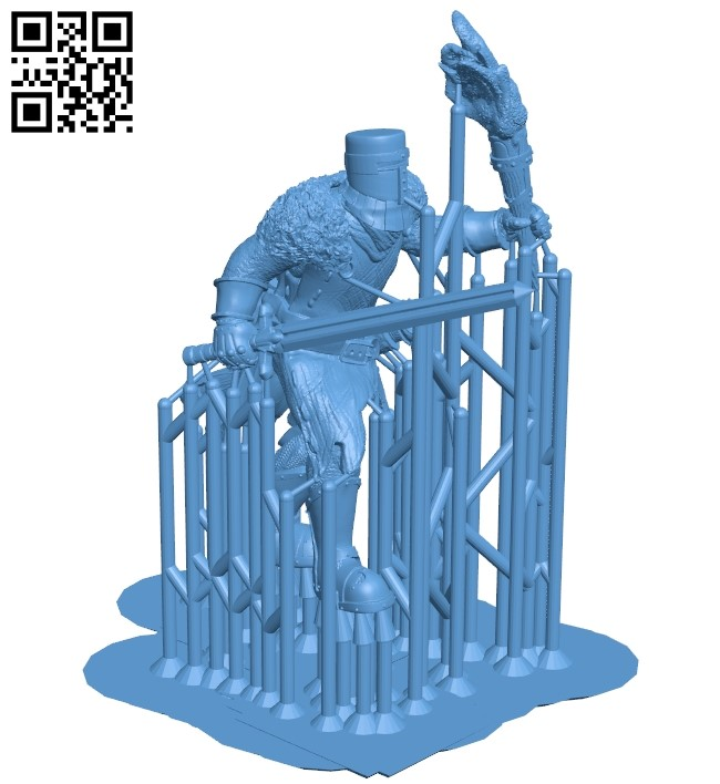 Templar of the lonely flame B009605 file stl free download 3D Model for CNC and 3d printer