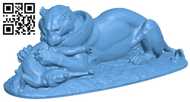 Tiger B009578 file stl free download 3D Model for CNC and 3d printer