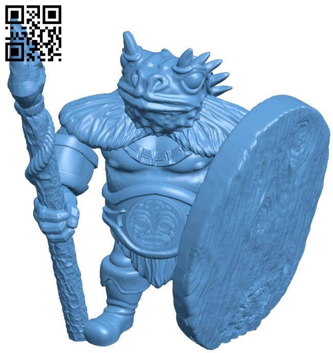 Toad warrior B009592 file stl free download 3D Model for CNC and 3d printer