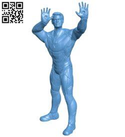 Tony iron man – superhero B009600 file stl free download 3D Model for CNC and 3d printer