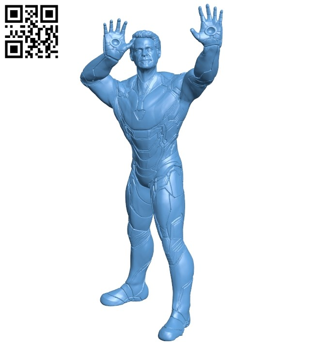 Tony iron man - superhero B009600 file stl free download 3D Model for CNC and 3d printer