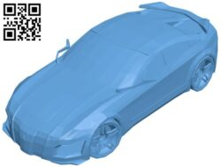 Tuning concept car B009604 file stl free download 3D Model for CNC and 3d printer