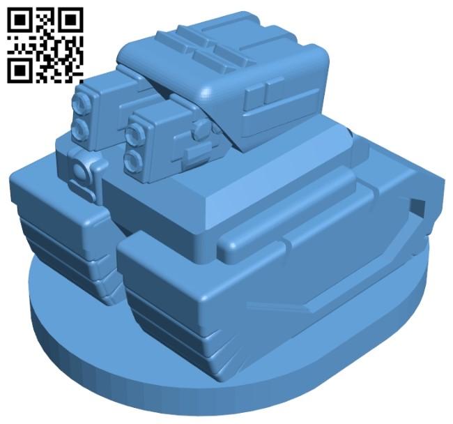 Turret mech tank B009552 file stl free download 3D Model for CNC and 3d printer
