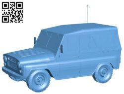 Uaz tent car B009556 file stl free download 3D Model for CNC and 3d printer