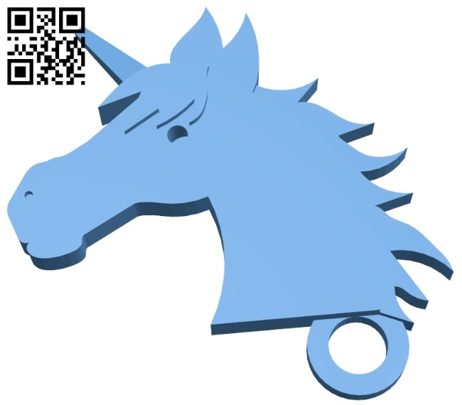 Unicorn keychain B009557 file stl free download 3D Model for CNC and 3d printer