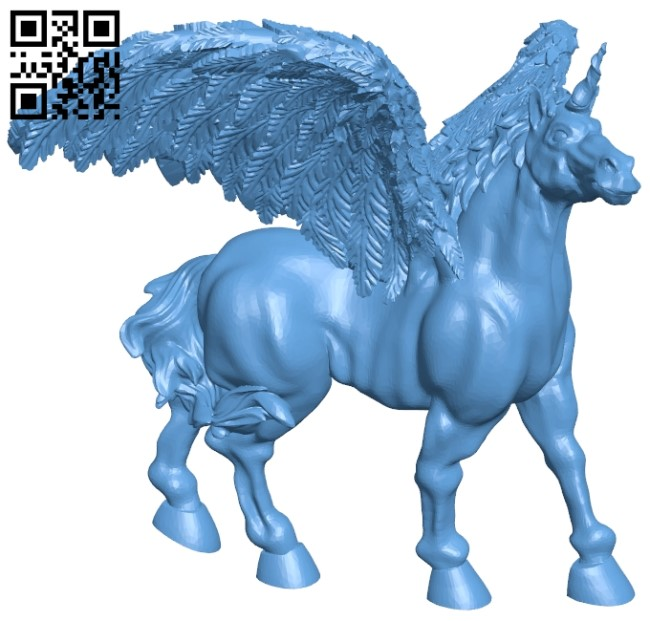 Unicorn winged repaired B009555 file stl free download 3D Model for CNC and 3d printer