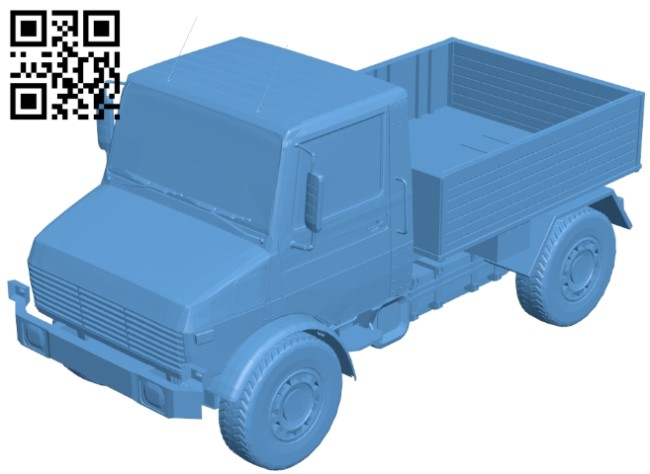 Unimog 1300l truck B009554 file stl free download 3D Model for CNC and 3d printer