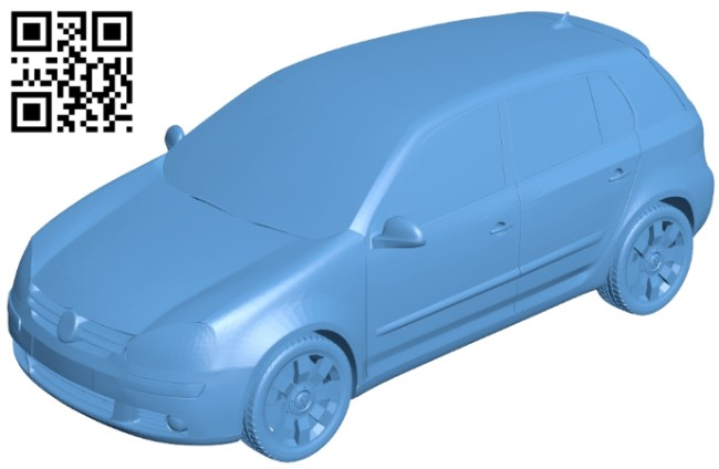 Volkswagen golf - car B009574 file stl free download 3D Model for CNC and 3d printer