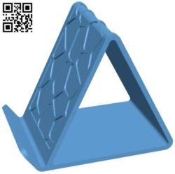 Voronoi holder – smart phone B009567 file stl free download 3D Model for CNC and 3d printer