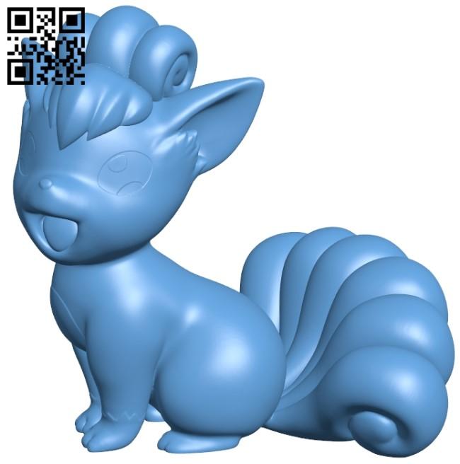 Vulpix - Pokemon B009612 file stl free download 3D Model for CNC and 3d printer