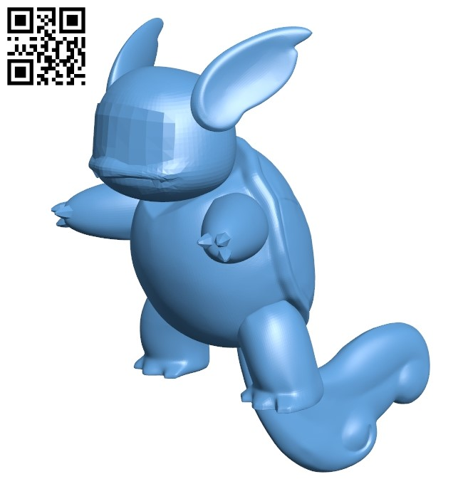 Wartortle - pokemon B009571 file stl free download 3D Model for CNC and 3d printer