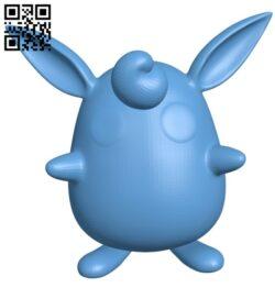 Wigglytuff – pokemon B009613 file stl free download 3D Model for CNC and 3d printer