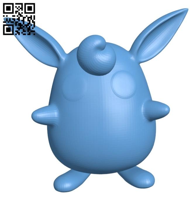 Wigglytuff - pokemon B009613 file stl free download 3D Model for CNC and 3d printer