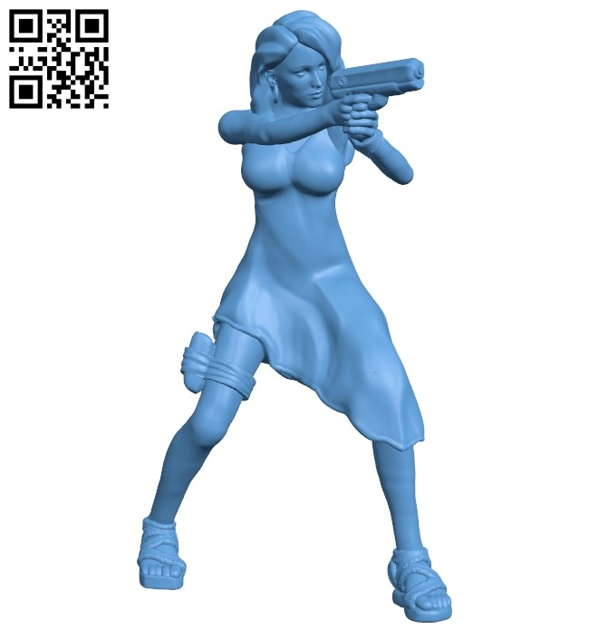 Woman - special agent B009541 file stl free download 3D Model for CNC and 3d printer