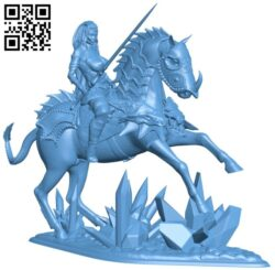 Woman with horsewar B009575 file stl free download 3D Model for CNC and 3d printer