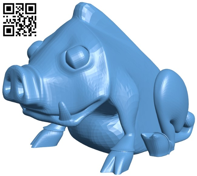 cinghiale in inglese B009610 file stl free download 3D Model for CNC and 3d printer