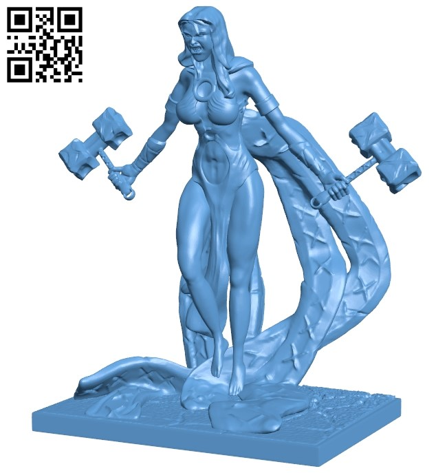 Woman warrior B009589 file stl free download 3D Model for CNC and 3d printer