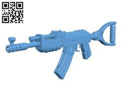 AK47 from Rust- Gun H000272 file stl free download 3D Model for CNC and 3d printer