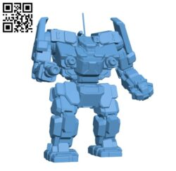 AWS-8Q Awesome for Battletech – Robot H000448 file stl free download 3D Model for CNC and 3d printer