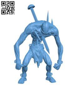 Abradax, The Prisoner H000380 file stl free download 3D Model for CNC and 3d printer