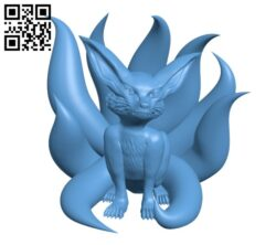 Adolescent Nine-Tails-Fox H000381 file stl free download 3D Model for CNC and 3d printer