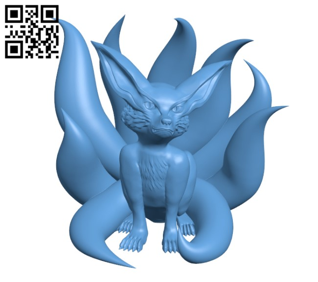 Adolescent Nine-Tails -Fox H000381 file stl free download 3D Model for CNC and 3d printer