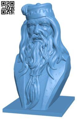 Albus Dumbledore Bust H000165 file stl free download 3D Model for CNC and 3d printer