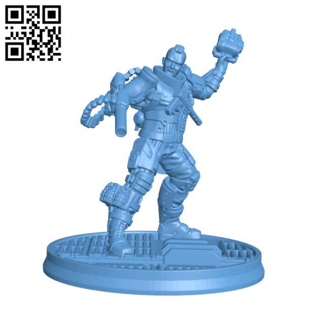 Alexei Dieselpunk Explosives Expert - Maslo Group H000382 file stl free download 3D Model for CNC and 3d printer