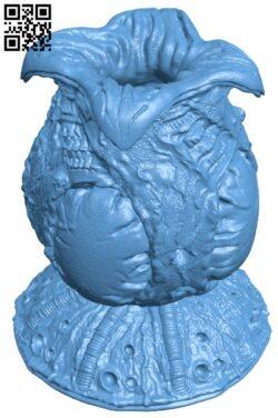 Alien Egg Wacom Pen Holder H000132 file stl free download 3D Model for CNC and 3d printer