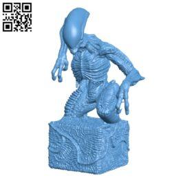 Alien statuette H000223 file stl free download 3D Model for CNC and 3d printer
