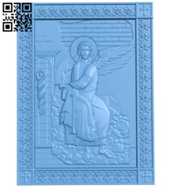 Angel painting A006560 download free stl files 3d model for CNC wood carving