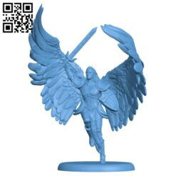 Angelic Paladin H000225 file stl free download 3D Model for CNC and 3d printer