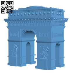 Arc de Triomphe – France H000427 file stl free download 3D Model for CNC and 3d printer