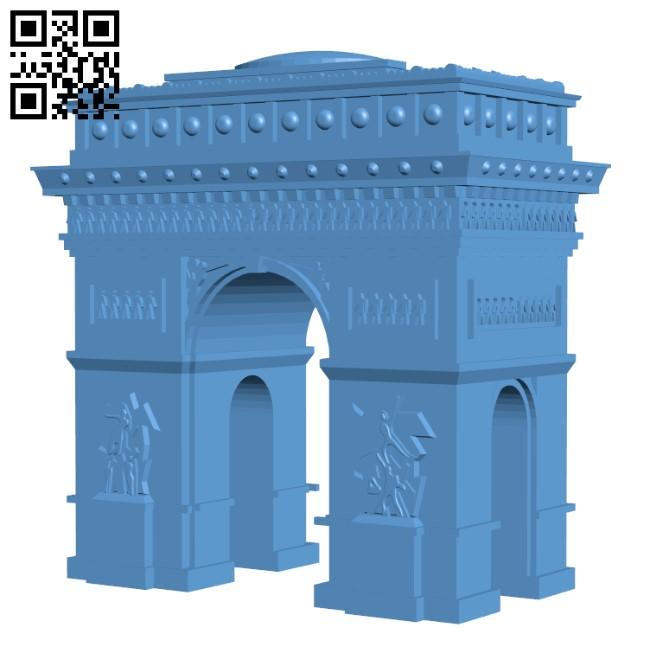 Arc de Triomphe - France H000427 file stl free download 3D Model for CNC and 3d printer