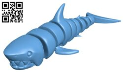 Articulated Shark H000166 file stl free download 3D Model for CNC and 3d printer
