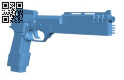 Auto9 Pistol from Robocop H000322 file stl free download 3D Model for CNC and 3d printer