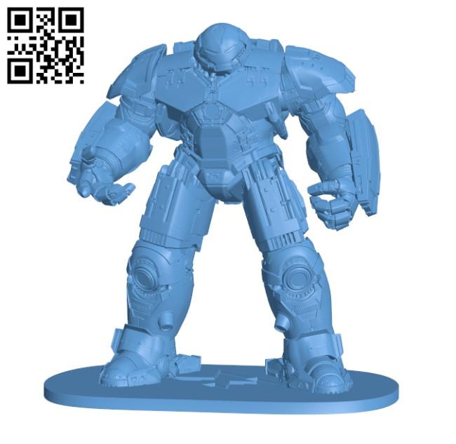 Avengers Hulkbuster H000447 file stl free download 3D Model for CNC and 3d printer