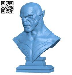 Azog the Defiler Bust H000254 file stl free download 3D Model for CNC and 3d printer