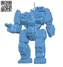 BLR-1G Battlemaster for Battletech – Robot H000449 file stl free download 3D Model for CNC and 3d printer