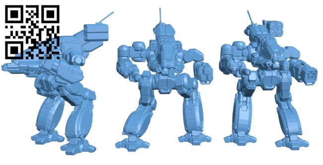 BSW-X1, X2 & S2 Bushwacker for Battletech H000257 file stl free download 3D Model for CNC and 3d printer