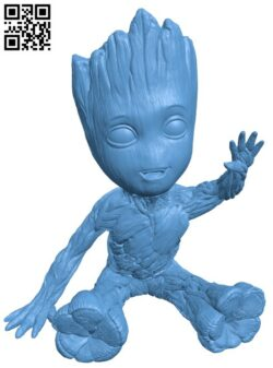 Baby Groot H000192 file stl free download 3D Model for CNC and 3d printer