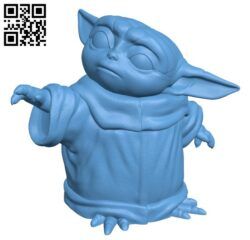 Baby Yoda H000104 file stl free download 3D Model for CNC and 3d printer