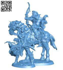 Bandit Archer on Horseback H000428 file stl free download 3D Model for CNC and 3d printer